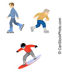 Skiers boys set on white