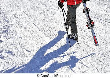 skieur, promenade