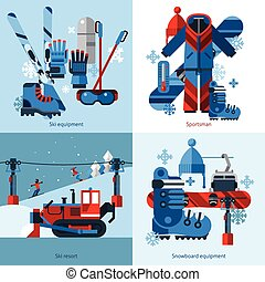 Skiing 2x2 Design Concept