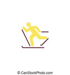 Skiing Icon Vector