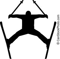 Skiing Jumping Silhouette