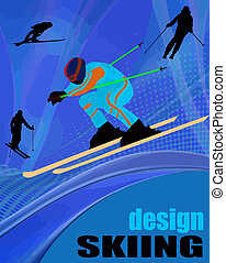 Skiing poster design