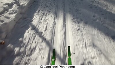 Skiing - Quick descent on skis
