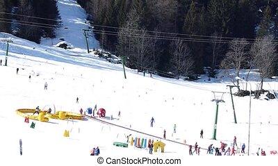 skiing resort in the Alps, Formazza, Italy