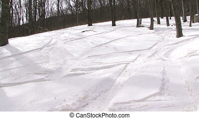 Skiing tracks