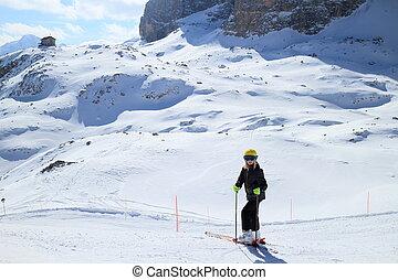 girl in the european alps