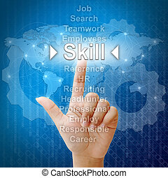 Skill, Business concept in word for Human resources