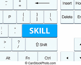 Skill cyan blue keyboard button