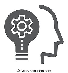Skill Development glyph icon, education and school, idea sign vector graphics, a solid icon on a white background, eps 10.