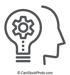 Skill Development line icon, education and school, idea sign vector graphics, a linear icon on a white background, eps 10.