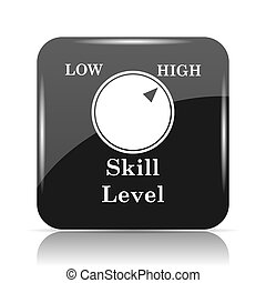 Skill level icon. Internet button on white background.