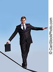 Skill - Photo of skilled businessman walking down ribbon or...