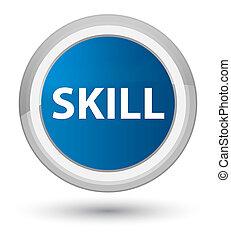 Skill prime blue round button
