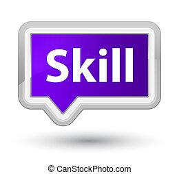 Skill prime purple banner button