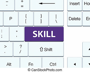 Skill purple keyboard button