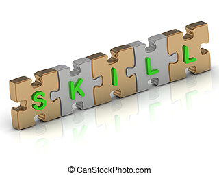 SKILL word of gold puzzle