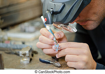 Skilled jeweller