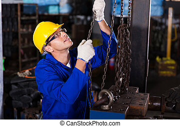 male industrial worker at work