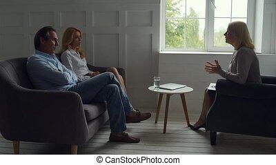 Skilled psychologist solving problems of destroyed family -...