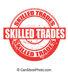 skilled trades stamp - skilled strades grunge stamp with on...