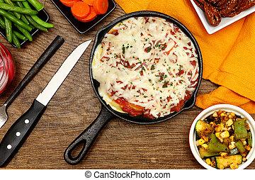 Skillet Baked Ravioli Meal