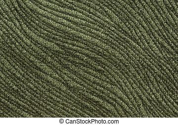 Skillful fabric texture in dark greeny hue.