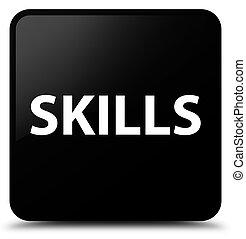 Skills black square button