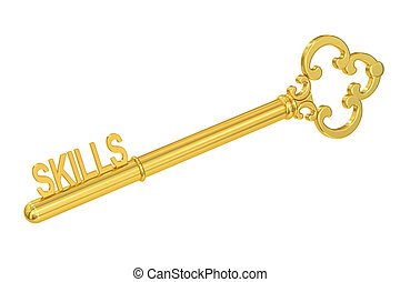 Skills - Golden Key, 3D rendering