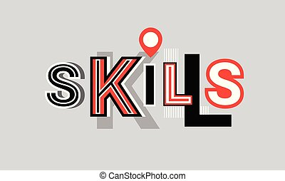 Skills Personal Development Web Banner Abstract Template Background Vector Illustration