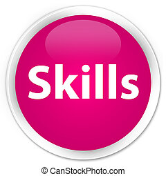 Skills premium pink round button