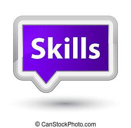 Skills prime purple banner button