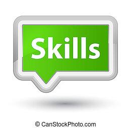 Skills prime soft green banner button