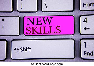skills., récemment, connaissance, acquired, texte, ...