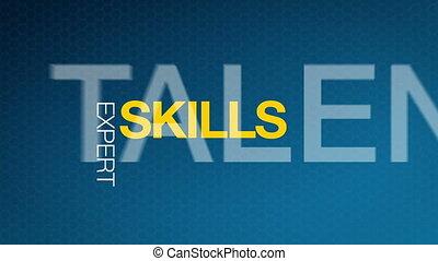 Skills - Animated Skills illustration. Kinetic Typography.