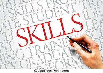 SKILLS word cloud, education business concept