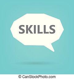 skills word on speech bubble- vector illustration