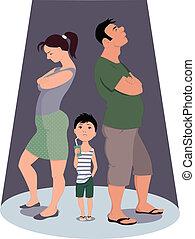 skilsmässa, barn, det skadar