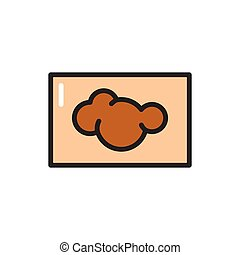 Skin cancer color line icon. Isolated vector element.