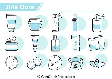 Skin Care Icon set - Simple Line Series