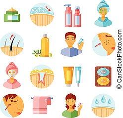 Skin Care Icons Set