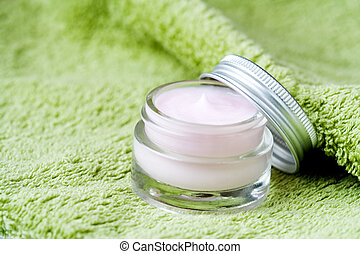 Skin care - Light pink moisture in little glass jar