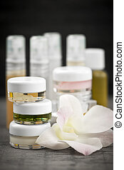 Skin care products - Various jars and bottles of skin care...