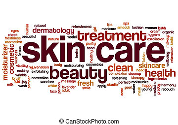 Skin care word cloud - Skin care concept word cloud...