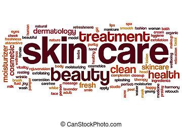 Skin care word cloud - Skin care concept word cloud...