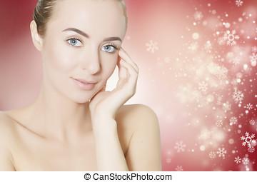skin revitalizing for holidays - skin revitalizing concept...