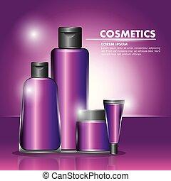 skincare, cosmetica, bottiglia