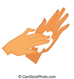 skincare, crème, demande, cosmétique, lotion, mains, choyer,...