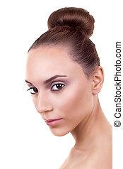 Skincare Woman Hair Bun