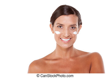 skincare Young Caucasian woman