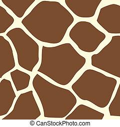 skinn, seamless, giraff, belägga med tegel, djur